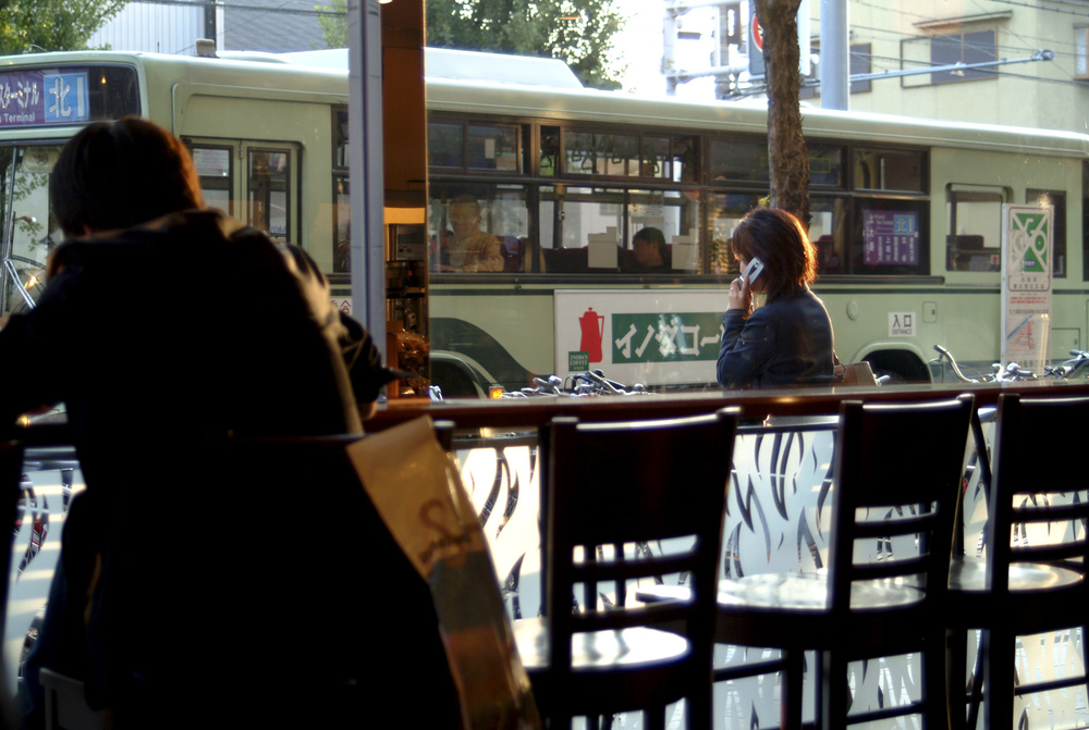 Street scene from a cafe in Kitaoji