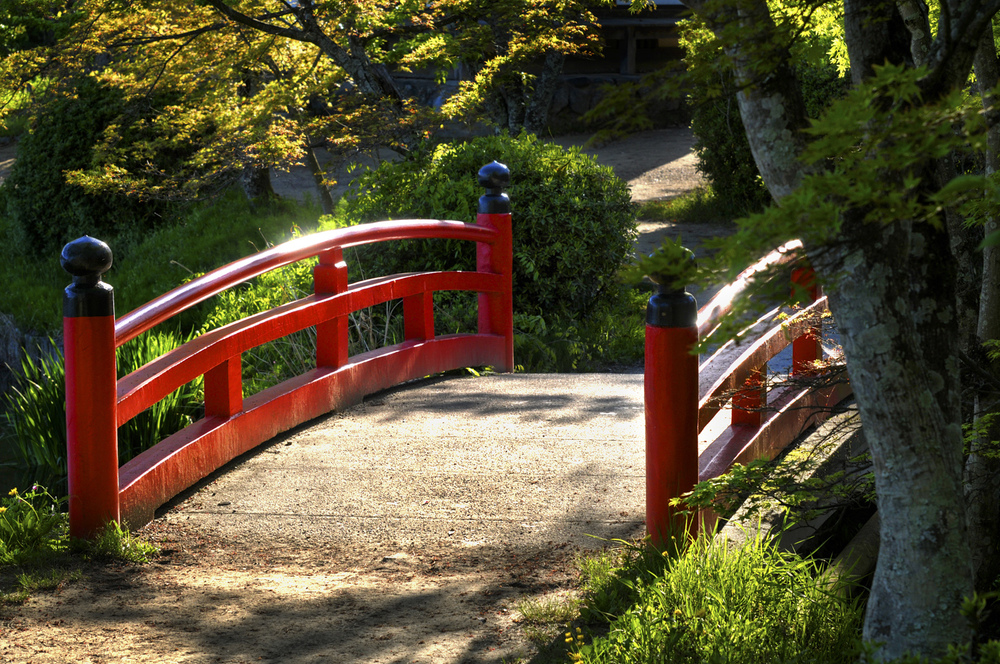 Bridge by Osawa-no-ike Pond Arashiyama