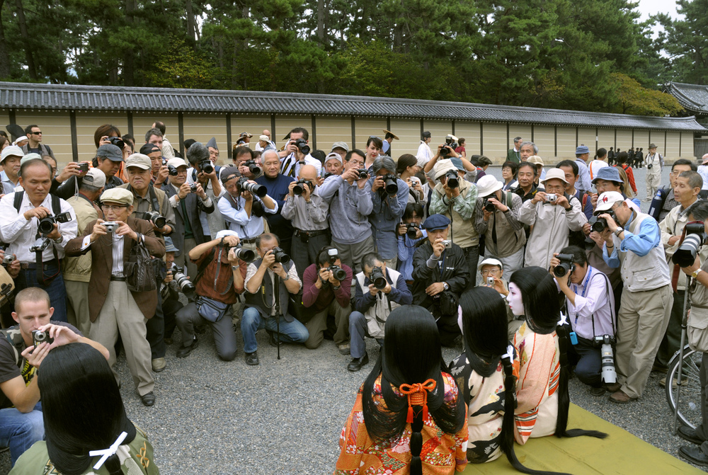 Amateur photographers at the Jidai Matsuri