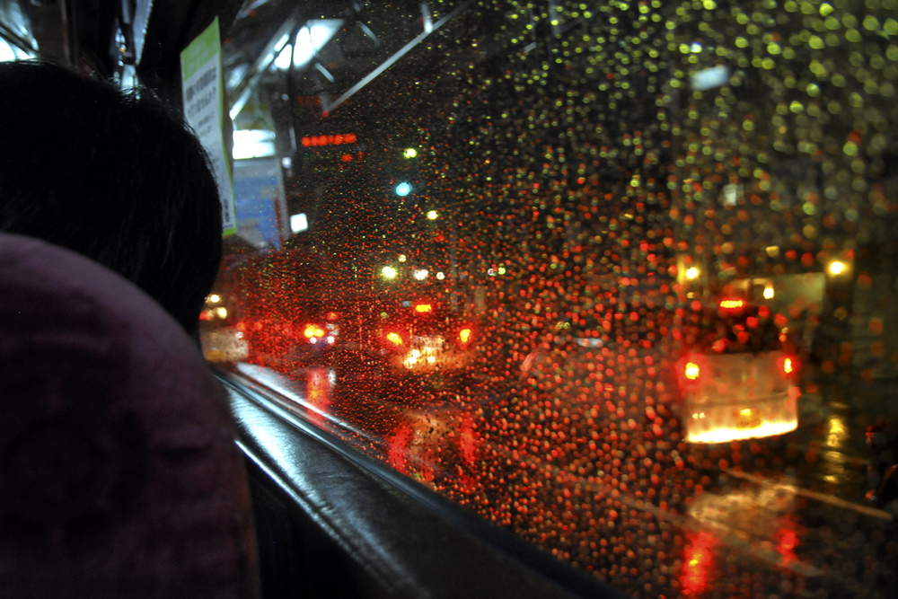 Rainy night from a No.17 bus