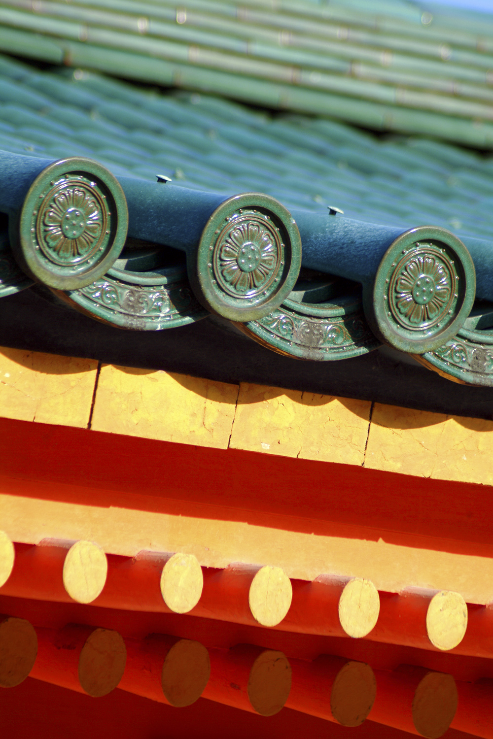 Roof detail at Heian Shrine