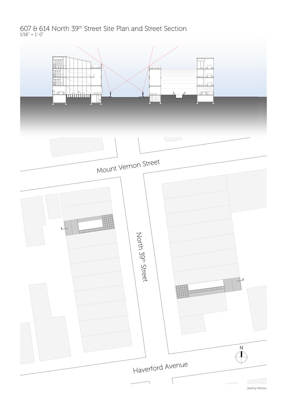 Street Section and Site Map