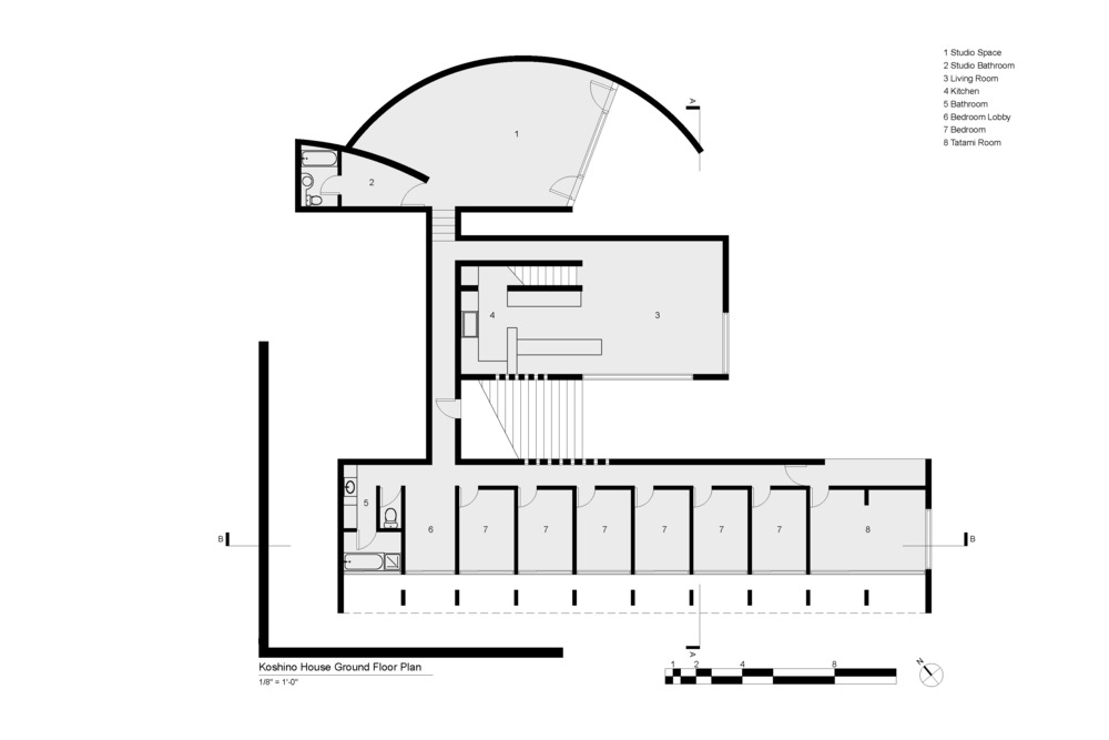 Koshino House Ground Floor Plan