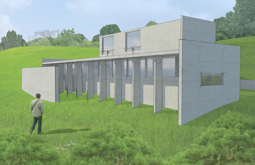 Koshino House Hybrid Exterior Rendering