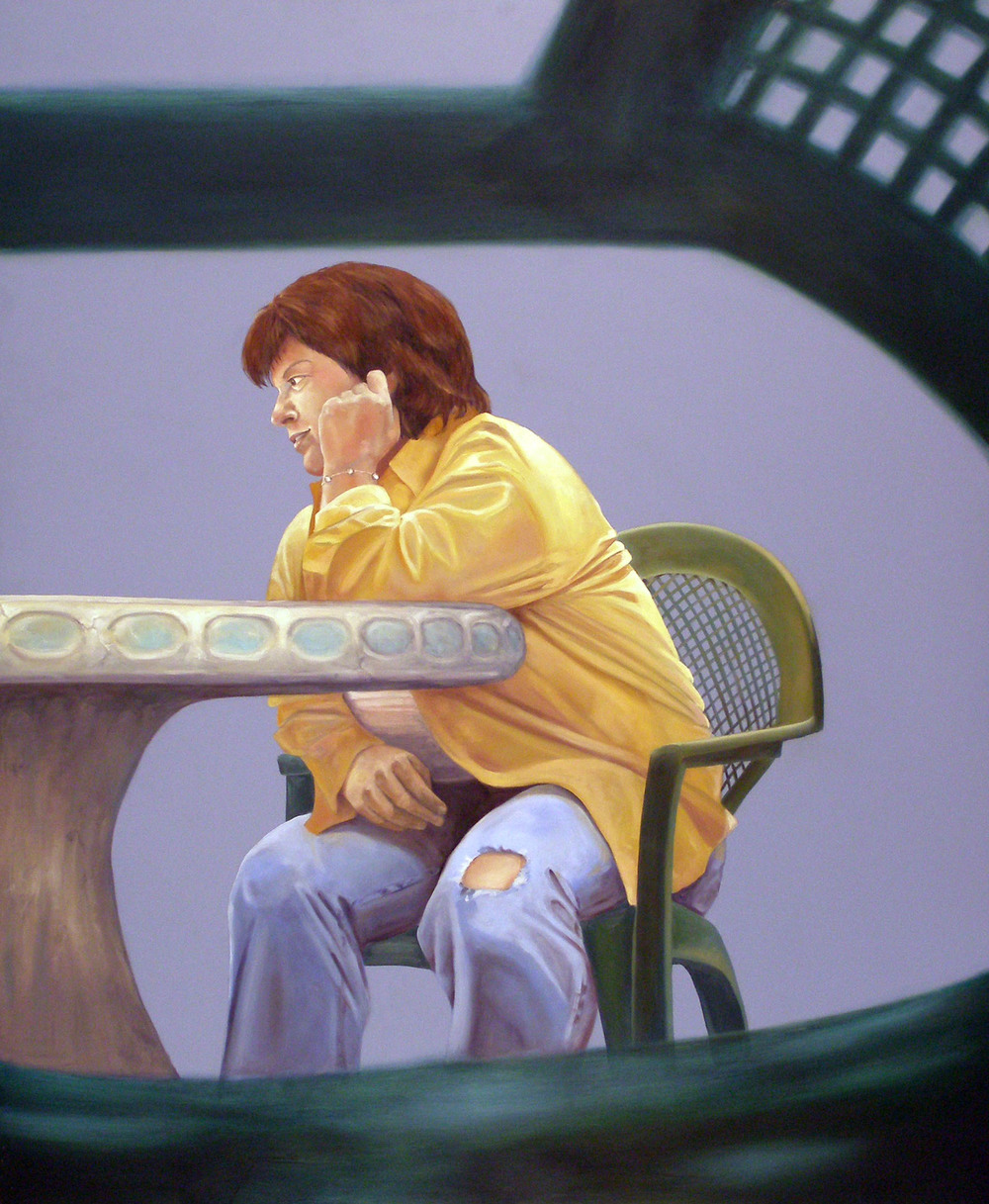 "Alone Together: March 25th, 6:00pm , 46 ""x 38 "", oil on laminate, 2007"