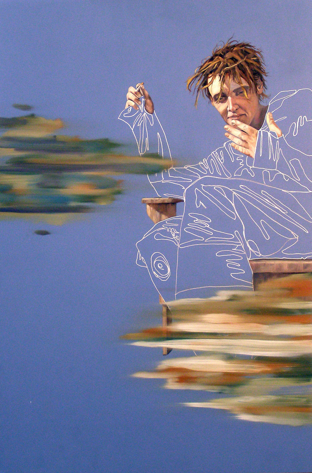 "May 22, 5:35pm, 24""x 16 "", oil on laminate, 2008"