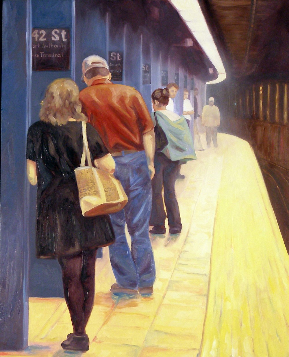 "The Platform, 24x18"", oil on panel, 2006"