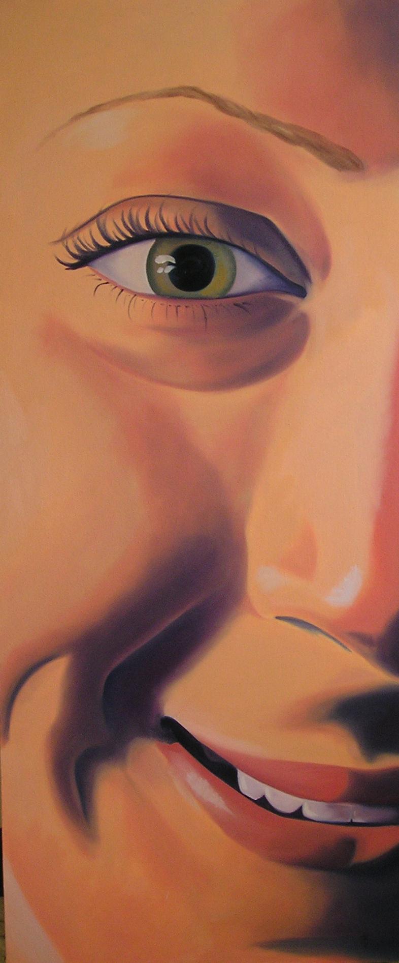 """Danica, 48x18"""", oil on canvas, 2002"""