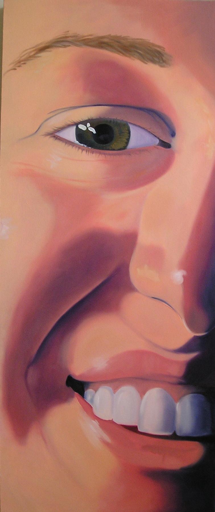 """Erin, 48x18"""", oil on canvas, 2002"""