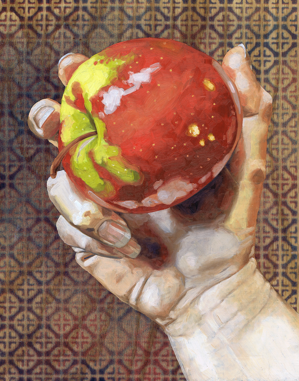 "Apple, 14 x 11"", oil on panel, 2016"