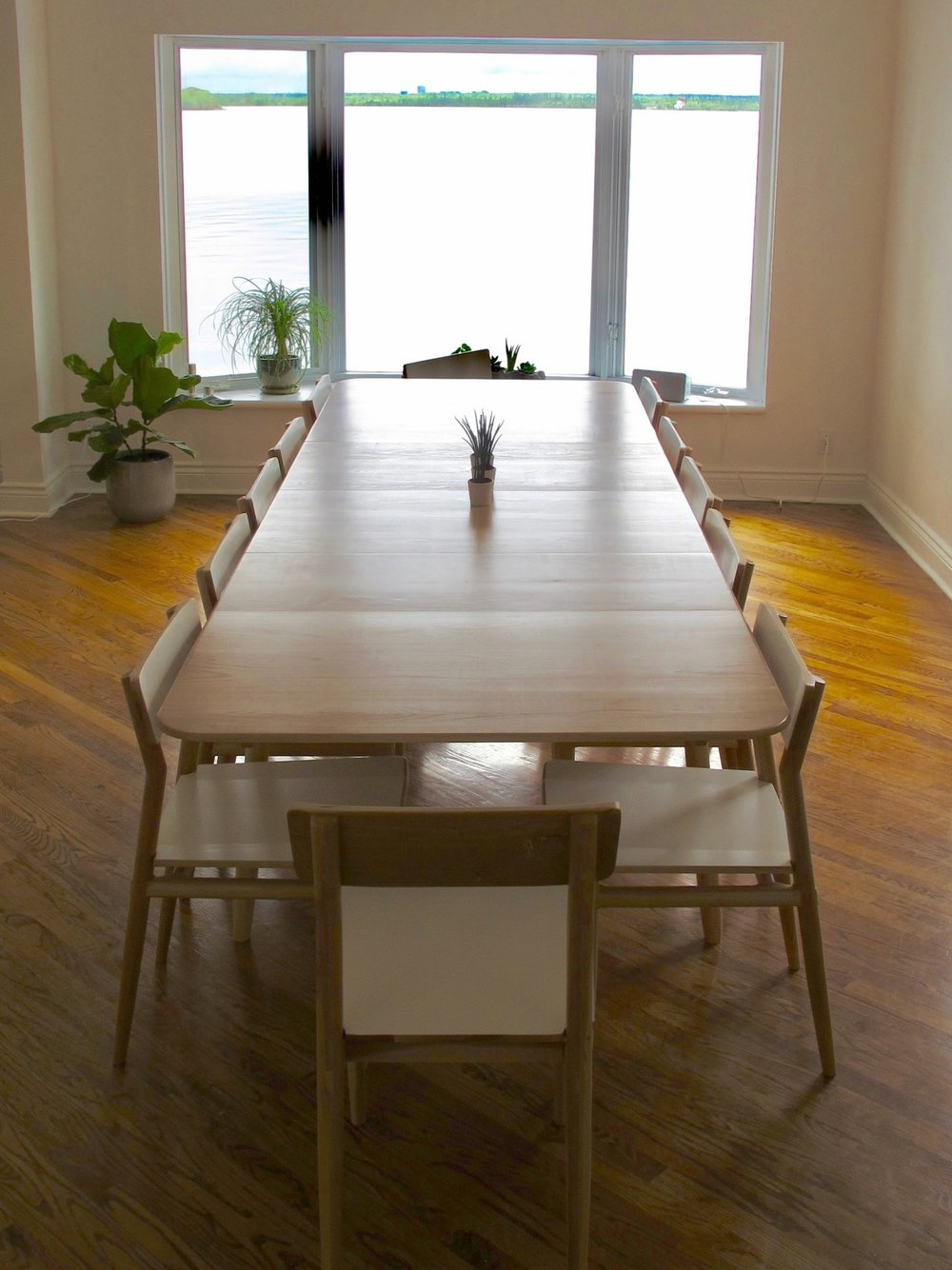 """Lars Extesion Table in Beech (fully extended to 124"""")"""