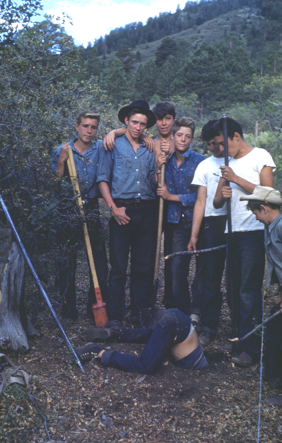 In '49, the campers dug an 80 ft well by hand