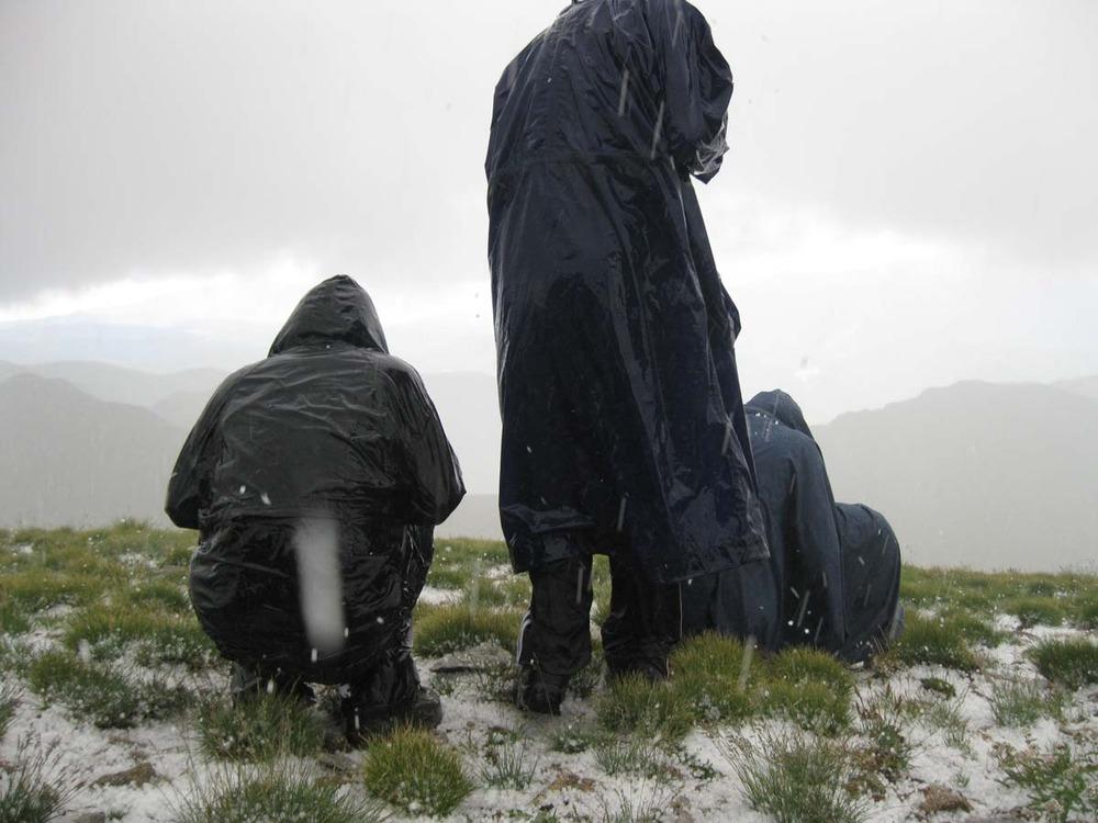 hail storm on 12,700 ft Venado Peak