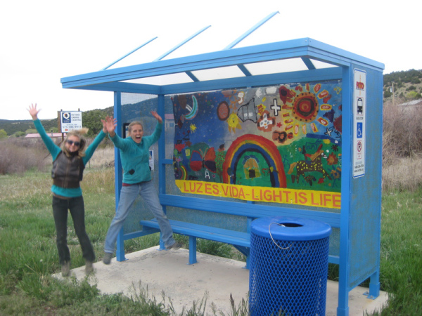 Joan Long and Claire Cote increase ridership on NCRTD (free blue bus) public transit with youth created artwork