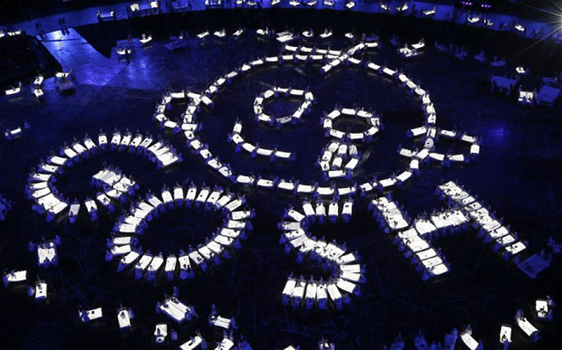 A tribute to the Great Ormond Street Hos...A tribute to the Great Ormond Street Hospital (GOSH) is performed during the opening ceremony of the London 2012 Olympic Games on July 27, 2012 in London.  AFP PHOTO / MORRY GASH / POOL        (Photo credit should read MORRY GASH/AFP/GettyImages)
