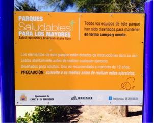 Parque saludable, Municipio Canet de Berenguer.