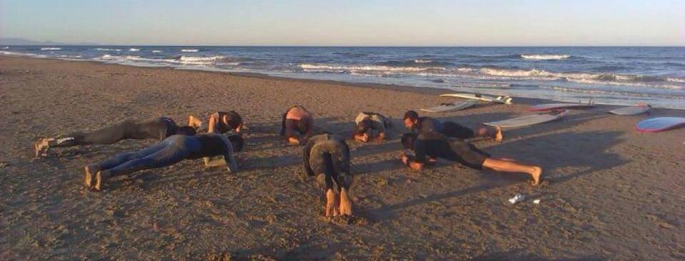 Primer entrenamientos con el Surf Club Morvedre.