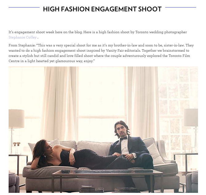 http://www.theweddingco.com/high-fashion-engagement-shoot/