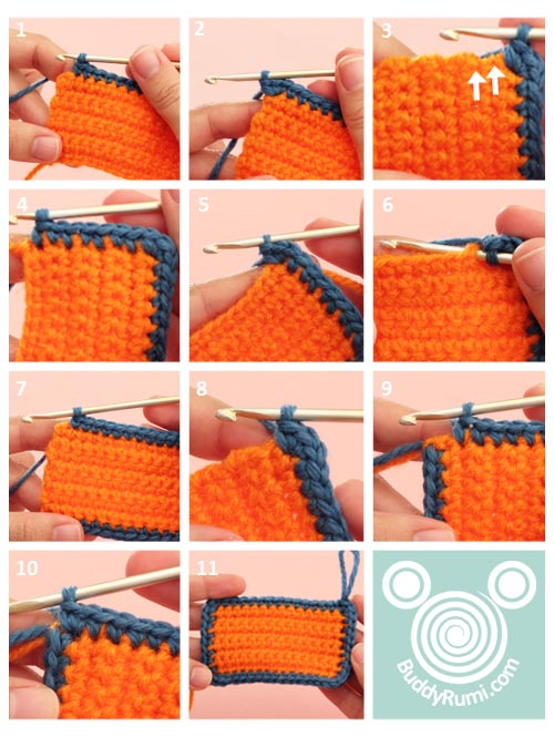 Crocheting evenly all around