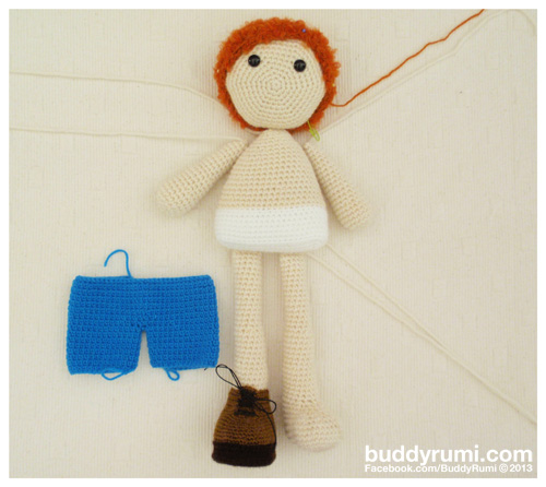 Amigurumi crochet boy