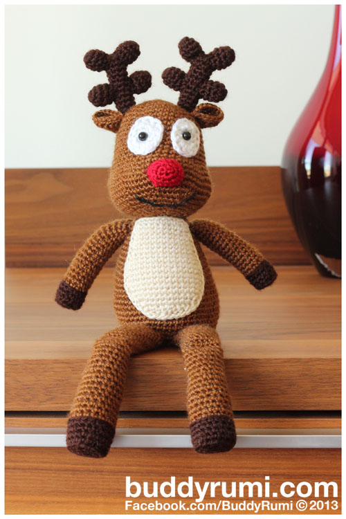 Amigurumi Pattern Rooney The Reindeer Buddyrumi