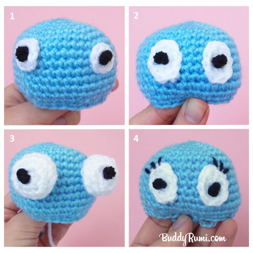 Amigurumi Yarn : How to... Make Amigurumi Eyes with Yarn BuddyRumi
