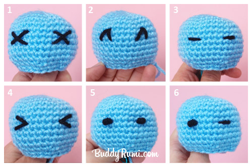 tutorial amigurumi doll bagian 2|| How to make embroidery ... | 333x500