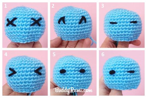 Amigurumi Eyes Embroidery : How to... Make Amigurumi Eyes with Yarn BuddyRumi