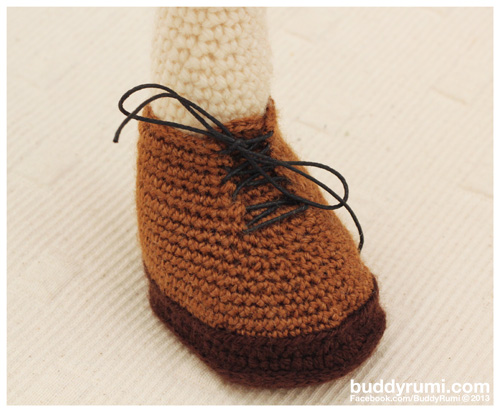 Amigurumi crochet boot
