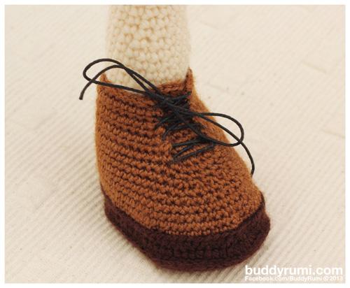 Amigurumi crochet boot