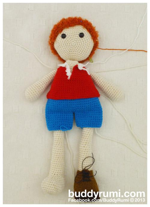 Amigurumi rag doll boy crochet
