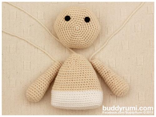 Crochet amigurumi rag doll boy