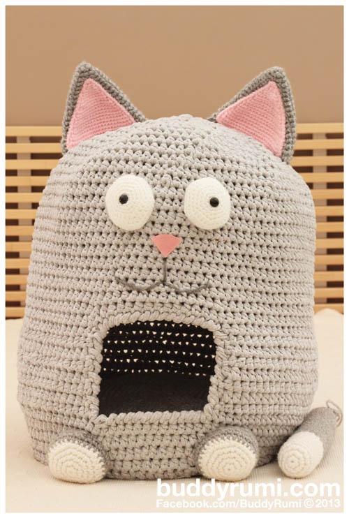 Crochet Cat Bed T-shirt Yarn