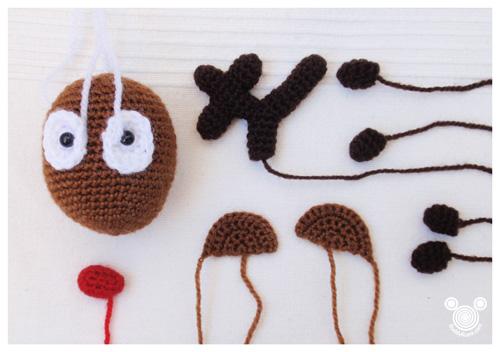 Rudolph Christmas Reindeer Free Crochet Pattern