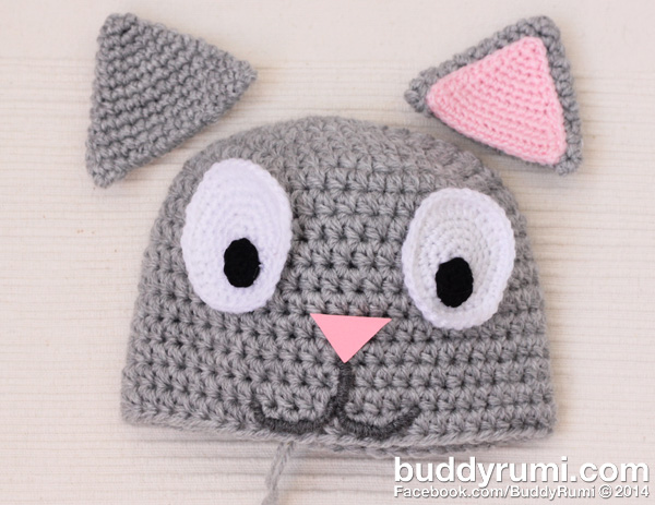 Kitty Cat Crochet Hat