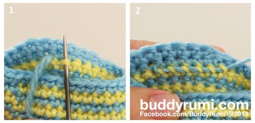 Weave in ends back crochet