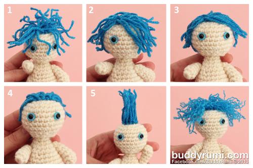 Amigurumi Hair Styles : How to... Yarn Hair BuddyRumi