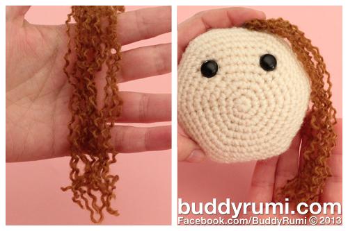 Amigurumi Hair Curly : How to... Make Curly Hair BuddyRumi
