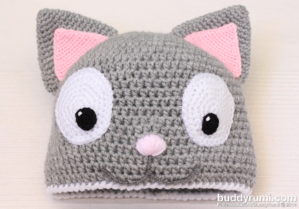 Cat crochet hat