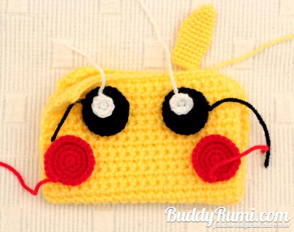 Pikachu crochet wallet