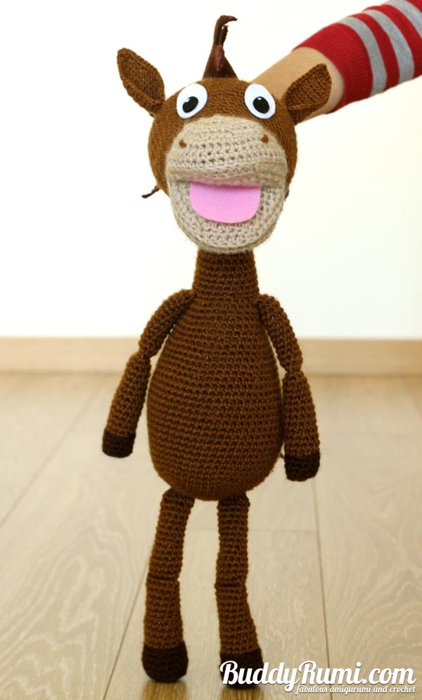 Crochet horse puppet