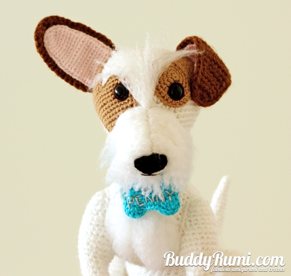 Custom amigurumi dog