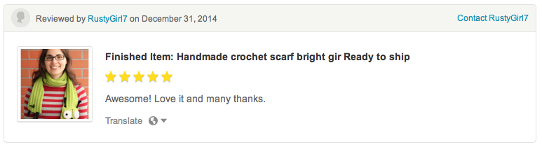 Gir crochet scarf