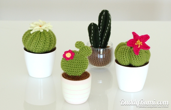 Amigurumi Cactus And Flower Crochet Pattern : Off the Hook BuddyRumi