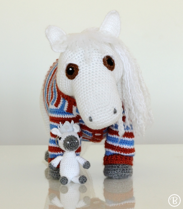 Custom amigurumi pony and pony keychain