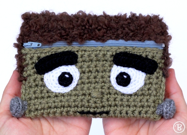 Frankenstein crochet wallet