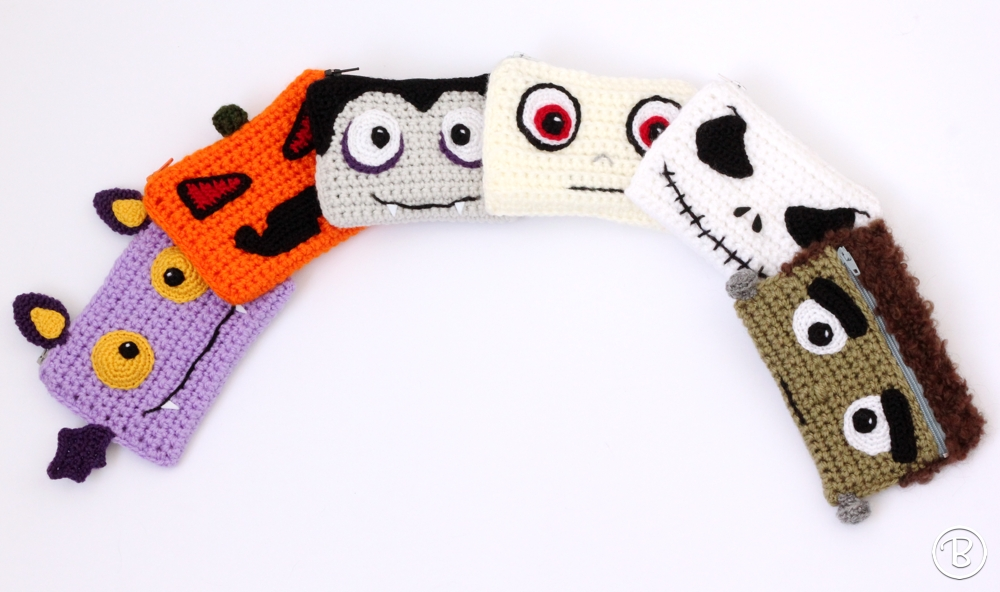 Buddy Wallets Spooky Edition, crochet wallets, purses and card holders.