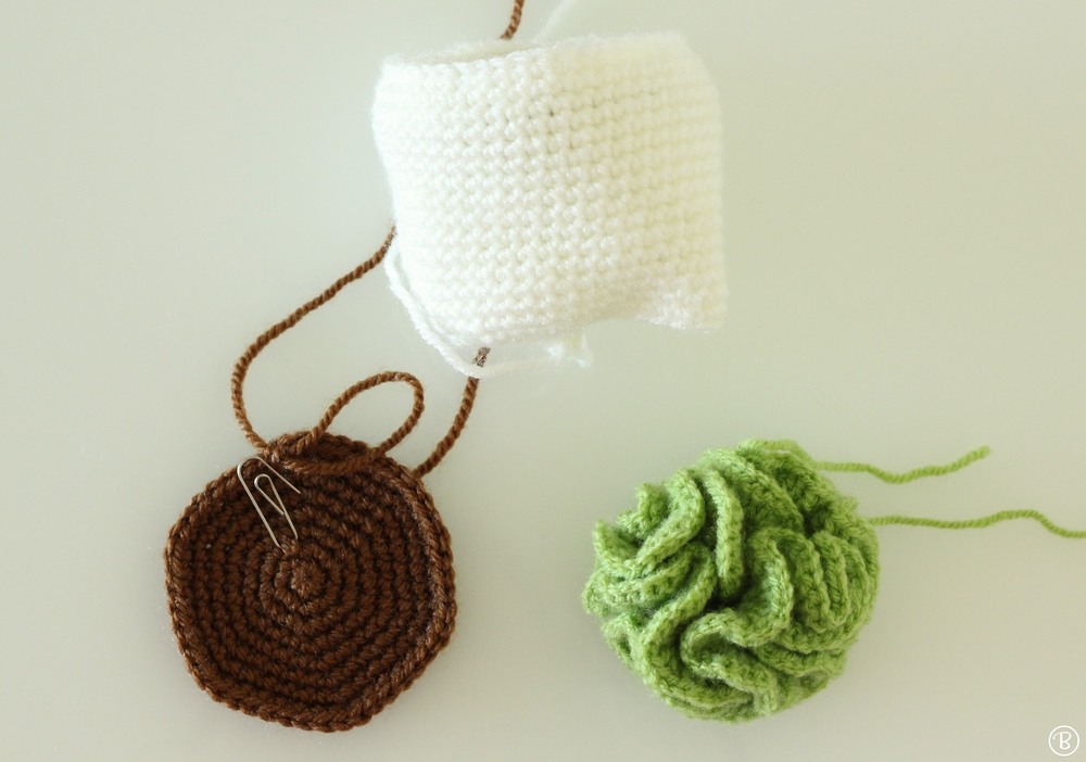 Crochet brain cactus