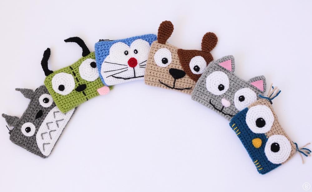 Crochet buddy wallets