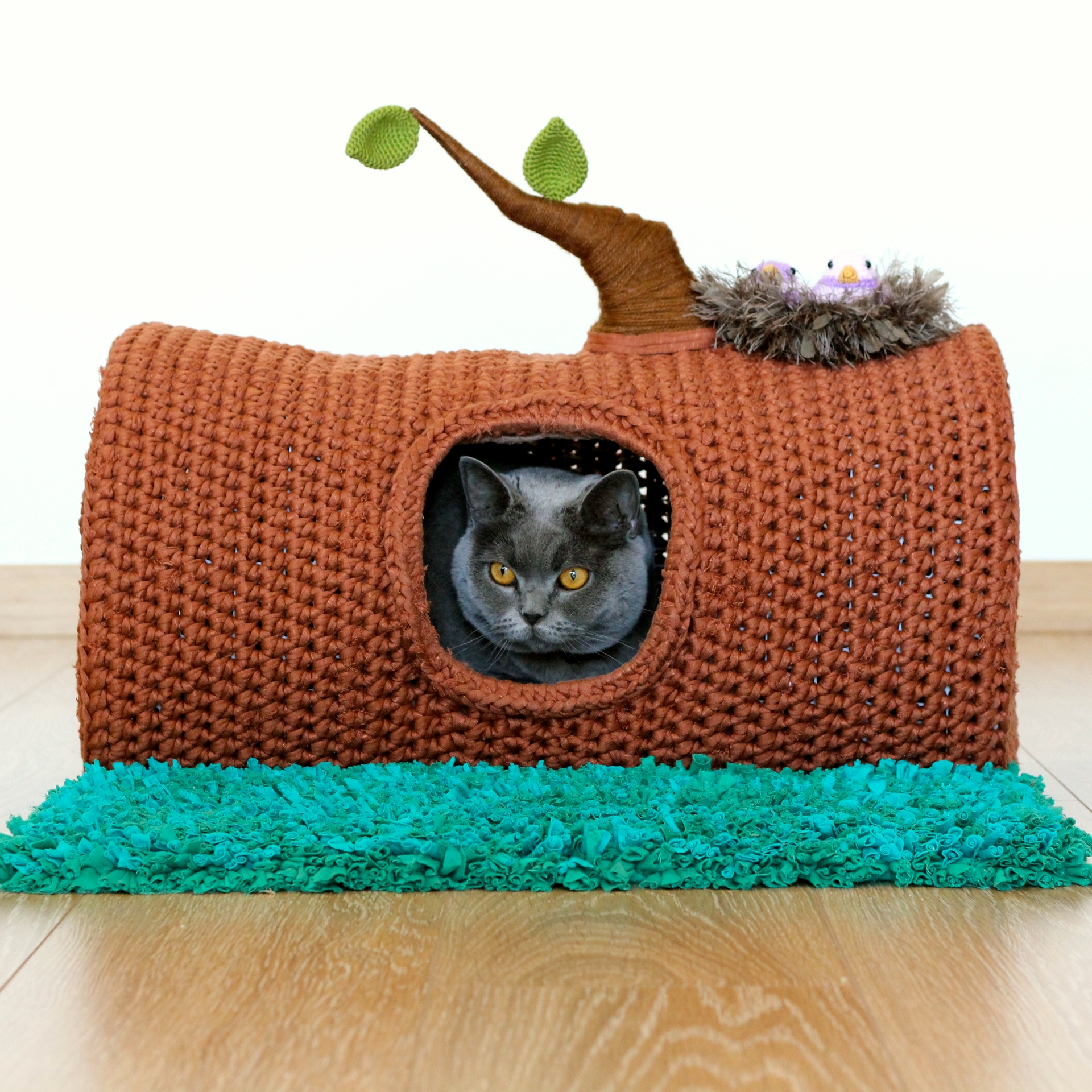 Crochet Patterns Galore - Tabby Chic Cat Bed | 1920x1920